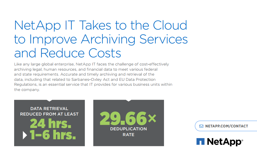 NetApp IT Takes to the Cloud